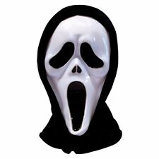 1x Costume SCREAM HORROR GHOST MASK Screaming MOVIE BIANCO Faccia Halloween UK