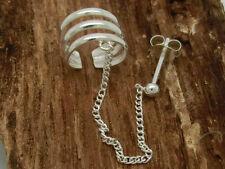 Einfacher Ohrstecker mit Ohrklemme 925er Silber 1 Stück