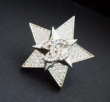 2017 17C Cruise NWT CHANEL Rhinestones Star Gold Crystal Brooch Pin Cuba