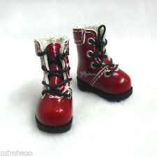 "16cm Lati Yellow Basic Bjd 12""  Blythe Pullip Doll Shoes High Hill Boots RED"