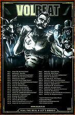 VOLBEAT Seal The Deal & Let's Boogie 2016 Ltd Ed RARE Poster +FREE Metal Poster!