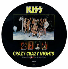 "KISS Crazy Crazy Nights 1987 UK 12"" Vinyl PICTURE DISC EXCELLENT CONDITION"