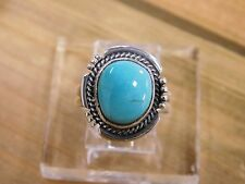 Lovely Manassa Turquoise Sterling Silver Ring Size 6