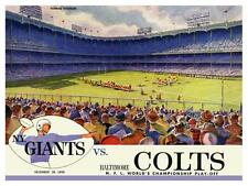 NY Giants vs Baltimore Colts  **LARGE POSTER**  Playoff 1958 Football New York