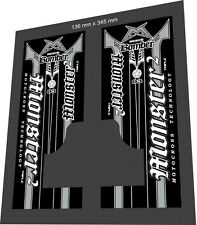 MARZOCCHI Bomber Monster Triple 2 2003 Silver Fork Sticker / Decal Set