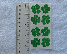Sandylion FOUR LEAF CLOVERS Strip of 2 Sqs RETIRED PRISM Vtg Stickers RARE