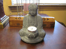 Volcanic Stone Buddha t-light candle Holder, home decor