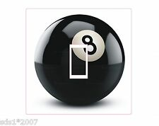 8 BALL LIGHT SWITCH COVER STICKER DECAL HD PRINTED colourful POOL BALL