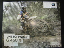 Folder / Brochure BMW unstoppable G 450 X 2008 (Duits)