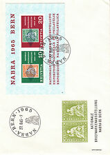 Svizzera 1965 Esposizione filatelica Berna fdc da Bf 20