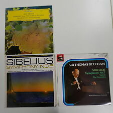 3x SIBELIUS lp , symphony 4 5 7