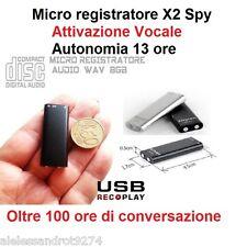 MICRO REKORDER AUDIO AKTIVIERUNG VOKAL 8GB SPY LICHT VOICE RECORDER USB 8 GB