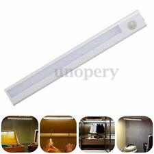8 LED PIR Motion Sensor Detector Night Light Indoor Drawer Closet Wall Lamp