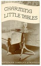 """Vintage """"KITTINGER"""" Furniture Sales Brochure: """"CHARMING LITTLE TABLES"""""""