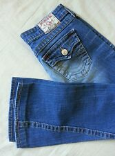 """$239 Women's True Religion """"JOEY BIG T"""" Twisted Flare jeans size 27×30 in VGC"""