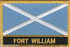 Fort William Scotland Town & City Embroidered Sew on Patch Badge