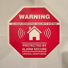 1 AUTHENTIC Home Security Yard Sign ALARM SECURE