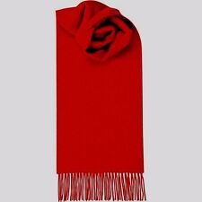 $425 CLUB ROOM Mens UNISEX RED SOLID WARM WINTER MUFFLER CASHMERE SHAWL SCARF