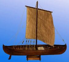 """Traditional, Detailed Wooden Model Ship Kit by Dusek: the """"Viking Knarr"""""""