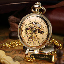 Kronen&Söhne Luxury Men's Chain Necklace Dial Display Mechanical Pocket Watch