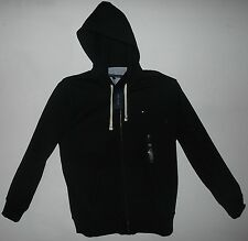 TOMMY HILFIGER Full  Zipper Heavy Fleece Hoodie Jacket Black XL Mens New NWT