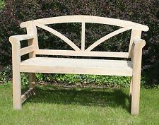 Teak Garden Bench Wooden 3 Seater Seat Solid Park Fully Assembled Arizona