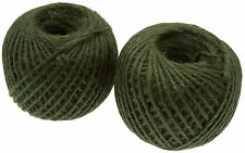 400m Green Jute Twine Ball Of Garden Tie Back String 150g Roll