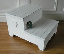 pine step stool,footstool,shabby chic steps.
