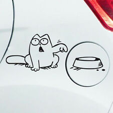 "Simon's Cat Decal Hungry ""Feed Me!"" Auto Car Fuel Tank Vinyl Sticker Vehicle"