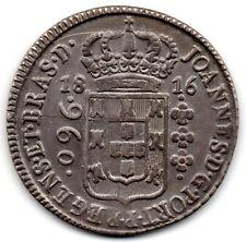 BRAZIL - BAHIA - 960 REIS SILVER COIN - 1816 B - KM # 307.1 - UNC - RARE