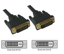10 METER HIGH END High Quality DVI to DVI Gold Link Cable 3D TV LCD PC FREE POST