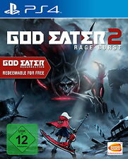 Playstation 4 Spiel: God Eater 2 Rage Burst PS-4 inkl. God Eater  Neu & OVP