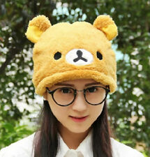 FD5096 San-X Rilakuma Relax Bear Hat Winter Fleece Fitted Warm Soft Hat Gift