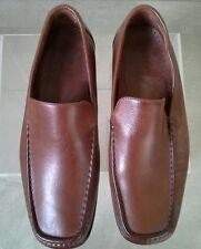 tan leather mocassin style shoes size 10