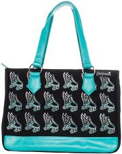 Sourpuss Flying Skate Turquoise Punk Goth Rock Emo Tote Bag Purse SPTO10