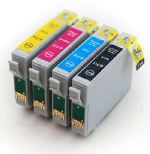 4  Non Oem INK CARTRIDGE REPLACE T0711 T0712 TO713 TO714 on Epson SX DX printers