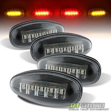 2001-2016 Chevy GMC Dually Pickup Rear Fender Side Marker Lights Amber&Red LED