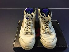 Rare Vintage 1990 Original OG Nike Air Jordan V 5 Grapes Emerald Sz 7