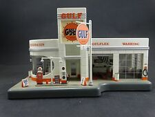 Danbury Mint Gulf Service Gas Station Vintage Model Light Up Clock Gasoline Pump