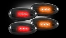 RECON SMOKED LED SIDEMARKER FENDER LIGHTS FOR 99-13 CHEVY SILVERADO 2500 3500 B