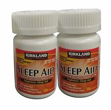192 Tablets Kirkland Sleep Aid Doxylamine Succinate 25mg+Free Worldwild Shipping