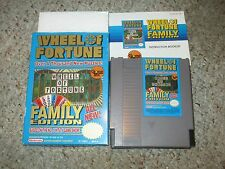Wheel of Fortune Family Edition Nintendo Entertainment System NES Complete GOOD