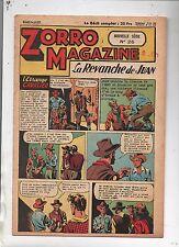 ZORRO MAGAZINE nouvelle série n°26. La Revanche de Juan.1952.