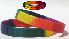 Little Monster Wristband Lady Gaga Fan Rainbow Colors LGBT Gay Pride Love TW024