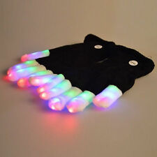Cool Black And White LED Light-emitting Gloves With Switch On/Off