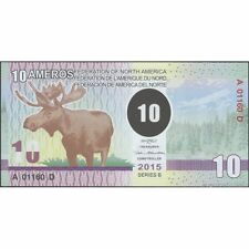 TWN - FEDERATION of NORTH AMERICA 10 Ameros 2015 UNC Polymer Private issue