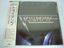 TRIUMPH-Classics JAPAN 1st.Press w/OBI Rush Kiss AC/DC Iron Maiden Scorpions