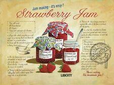 Strawberry Jam Vintage Kitchen Cafe Shop Old Food Rescipe, Large Metal/Tin Sign