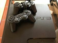 Sony PlayStation 3 Slim 160GB Charcoal Black Console (CECH-3001A) +2 Controllers