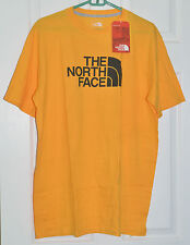 the north face tnf citrus yellow tshirt cotton mens large free shipping